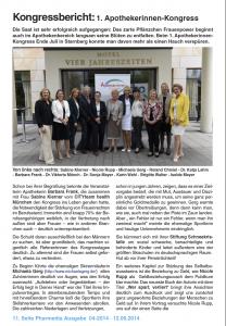 Pressemeldung zum Kongress Pharmedia Ausgabe 04-2014
